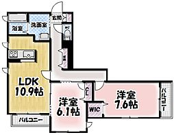 シャーメゾン大樹[205号室号室]の間取り