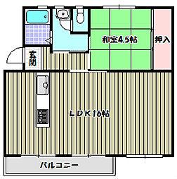 公団狭山住宅11号棟[5階]の間取り