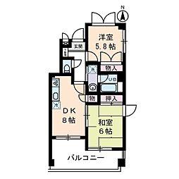 K−CUBE[0402号室]の間取り