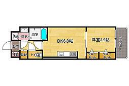 ソーレ・コモンド[4階]の間取り