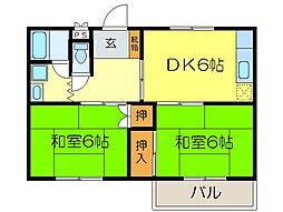 ニューシャトー・TI[2階]の間取り