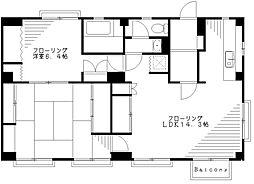 ホワイトコーポB棟[1階]の間取り