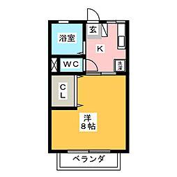 シティハイム信和[2階]の間取り