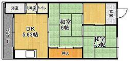 ニューグリーンマンション[3E号室]の間取り