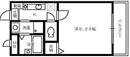 大阪府堺市西区鳳南町2丁の賃貸マンションの間取り