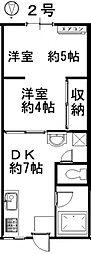 佐藤コーポ[203号室号室]の間取り