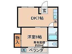 京都府京都市伏見区淀新町の賃貸マンションの間取り