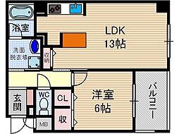 メープルスクエア心斎橋[2階]の間取り