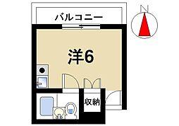 奈良県奈良市北市町の賃貸マンションの間取り
