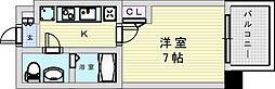 阪急宝塚本線 三国駅 徒歩5分の賃貸マンション 4階1Kの間取り