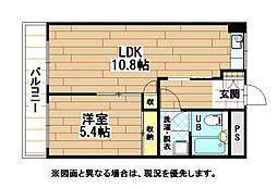 福岡県北九州市門司区藤松1丁目の賃貸マンションの間取り