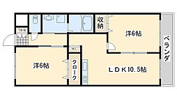 アシューレ[2階]の間取り