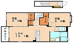 ラマージュ B[2階]の間取り