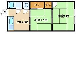 兵庫県尼崎市大庄西町1丁目の賃貸マンションの間取り