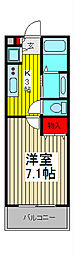 パセオ鈴谷[1階]の間取り