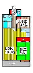 奥田屋ビル[6階]の間取り