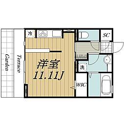 JR内房線 袖ヶ浦駅 バス7分 袖ヶ浦電話局前下車 徒歩1分の賃貸アパート 1階ワンルームの間取り