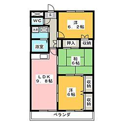 シェモア明正Ⅱ[2階]の間取り