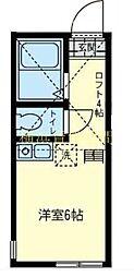 ユナイト南太田ポートラッシュ[2階]の間取り