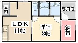 [テラスハウス] 兵庫県川西市出在家町 の賃貸【兵庫県 / 川西市】の間取り