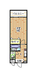 福岡県北九州市小倉北区白銀1丁目の賃貸マンションの間取り