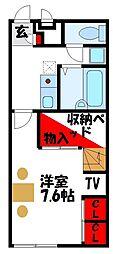 福岡県古賀市天神5丁目の賃貸アパートの間取り