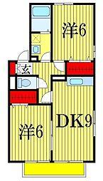 千葉県習志野市鷺沼台3丁目の賃貸アパートの間取り