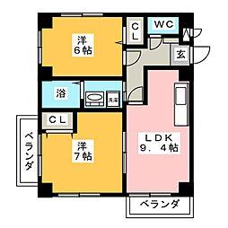 エクセルフルール[2階]の間取り