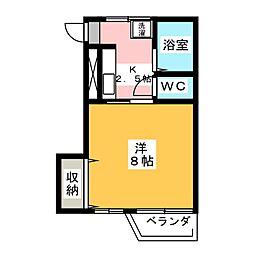 メゾンド岡野[1階]の間取り