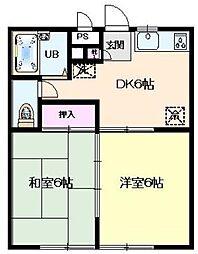 ベルメゾン金子[1階]の間取り