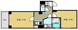GARE NAMBA[5階]の間取り