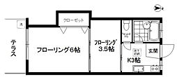 堀切ハイツ[1階]の間取り