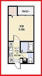東京都葛飾区東堀切1の賃貸アパートの間取り