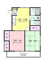 ハウス荏田C[1階]の間取り