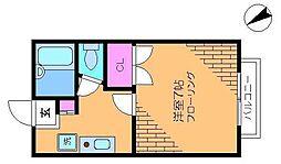 東京都調布市西つつじケ丘1丁目の賃貸アパートの間取り