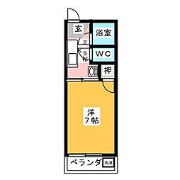 フォーブル鈍池[2階]の間取り