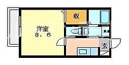マメゾン1[203号室]の間取り