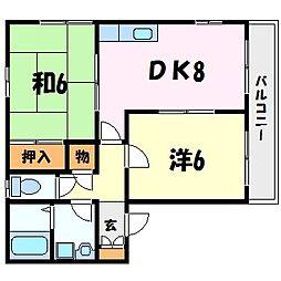ジョンメゾン香枦園[2階]の間取り
