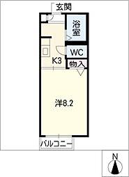ディアス前田 B棟[2階]の間取り