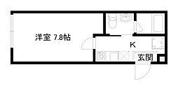 HOTEL THE POINT清水五条 2階1Kの間取り
