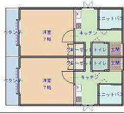 サンライズ小阪[5階]の間取り