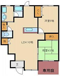 コウジィコートI番館[2階]の間取り