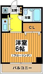 東京都杉並区永福2丁目の賃貸マンションの間取り