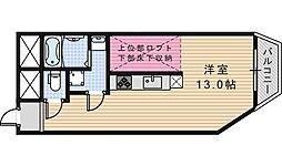 コスタ文の里[402号室]の間取り