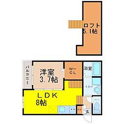 CASA DE LISA[1階]の間取り