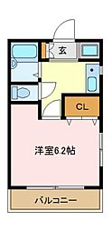神奈川県横浜市磯子区杉田4丁目の賃貸アパートの間取り