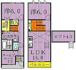 [テラスハウス] 千葉県鎌ケ谷市道野辺本町2丁目 の賃貸【/】の間取り