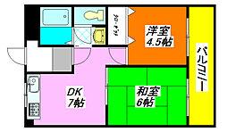 センチュリーパレス高井田 1001号室[10階]の間取り