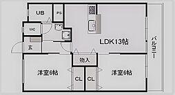 松本第一ビル[307号室]の間取り