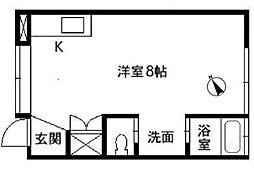 ライフハウスA[2階]の間取り